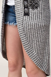 Vocal Apparel Stone Detail Cardigan - Back cropped