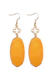 Riah Fashion Stone Drop Earrings - Front cropped