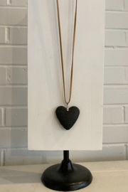 Sandra's collection  Stone Heart necklace - Product Mini Image