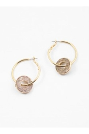 AL Boutique Stone Hoop Earrings - Product Mini Image