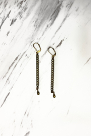 Top Shelf Jewelry Stone Ladder Earrings - Product Mini Image