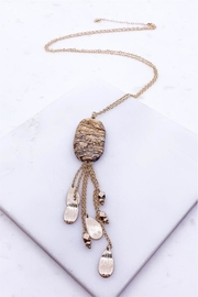 AL Boutique Stone Tassel Necklace - Product Mini Image