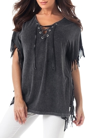 Angel Apparel Stone-Washed Fringe Tunic - Product Mini Image