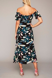 Stone Cold Fox Black Floral Gown - Front full body