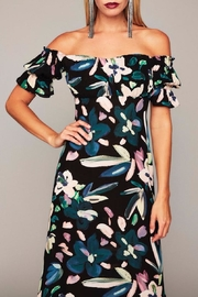 Stone Cold Fox Black Floral Gown - Side cropped