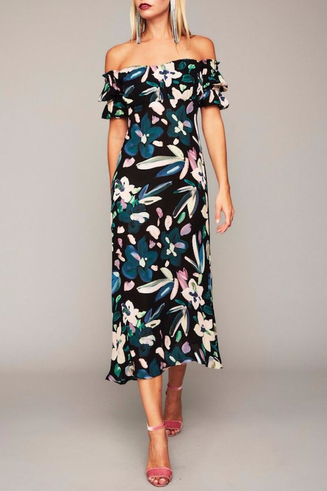 Stone Cold Fox Black Floral Gown - Main Image