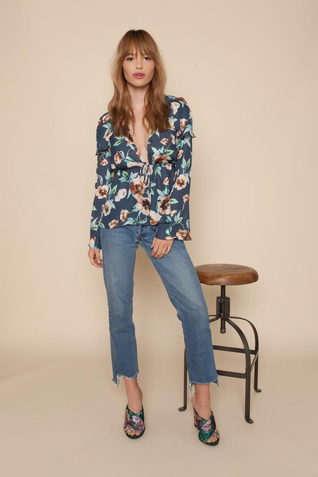 Stone Cold Fox Floral Blouse - Front Full Image