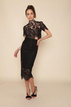 Stone Cold Fox Lace Pencil Skirt - Alternate List Image