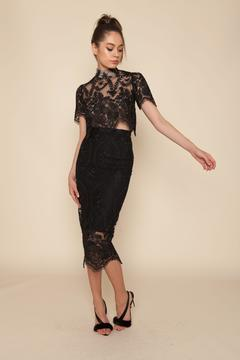 Stone Cold Fox Lace Pencil Skirt - Product List Image