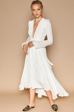 Stone Cold Fox Nico White Silk Gown - Product List Image