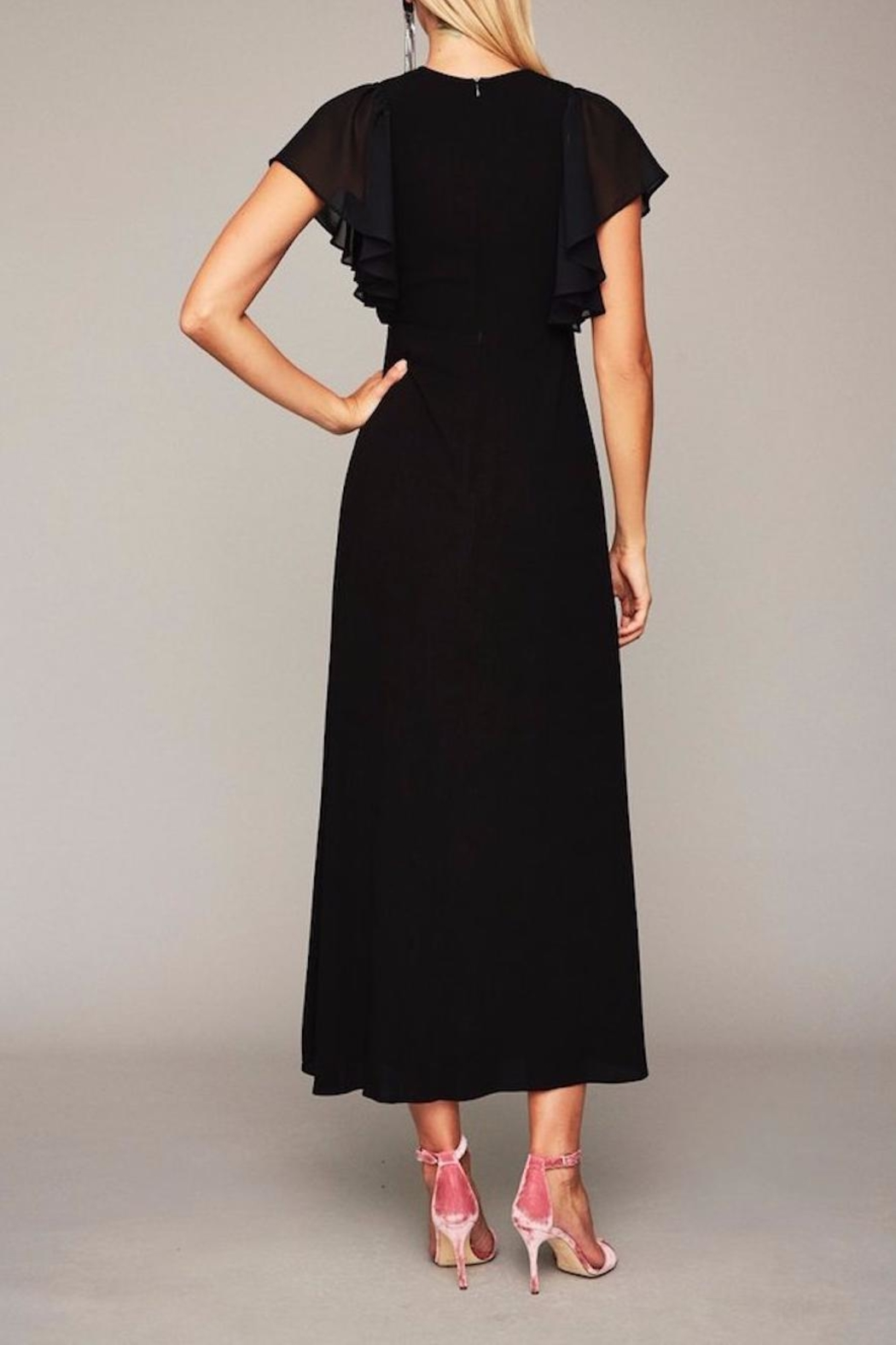 Stone Cold Fox Plunging Black Gown - Side Cropped Image