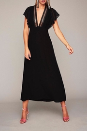 Stone Cold Fox Plunging Black Gown - Front cropped