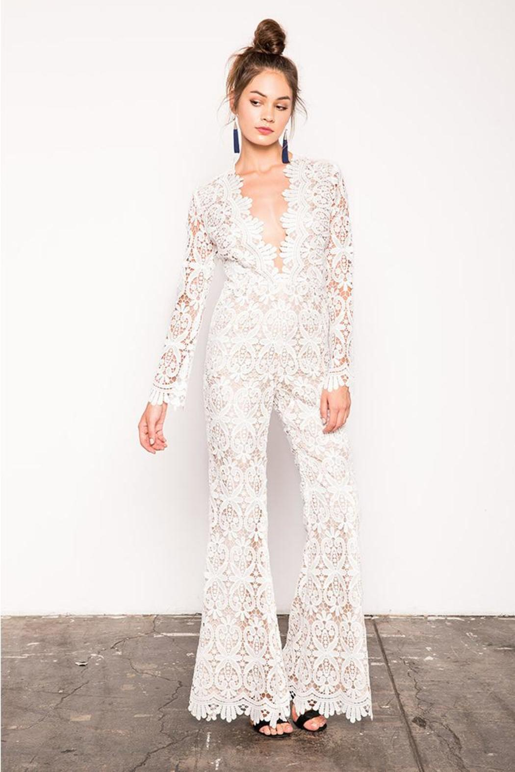 051fab32a8e4 Stone Cold Fox Saint Jumpsuit White from California by Brigitte ...