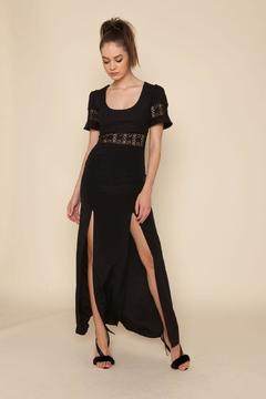 Stone Cold Fox Seymour Gown Black - Product List Image