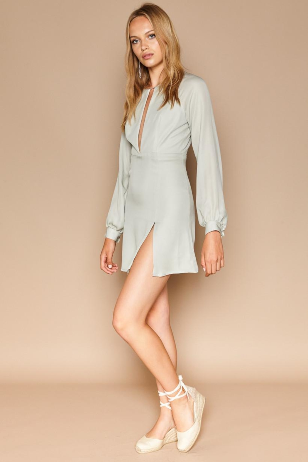 Stone Cold Fox Sicily Silk Dress - Side Cropped Image