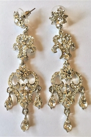 Stoned Crystals Designer Luxurious Earrings - Product Mini Image