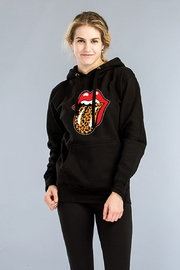 Carmelo Trend STONES & CHEETHAH HOODY - Front cropped