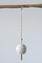 Creative Co-Op Stoneware Bells - Side cropped