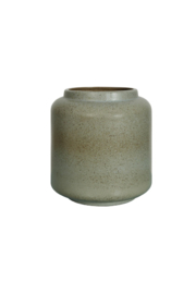Creative Co-Op Stoneware Vase - Front full body