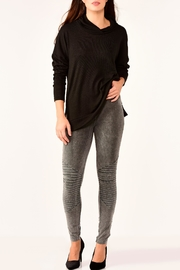 Charlie Paige Stonewashed Moto Leggings - Product Mini Image