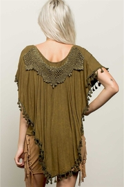 People Outfitter Stonewashed Olive Top - Front cropped