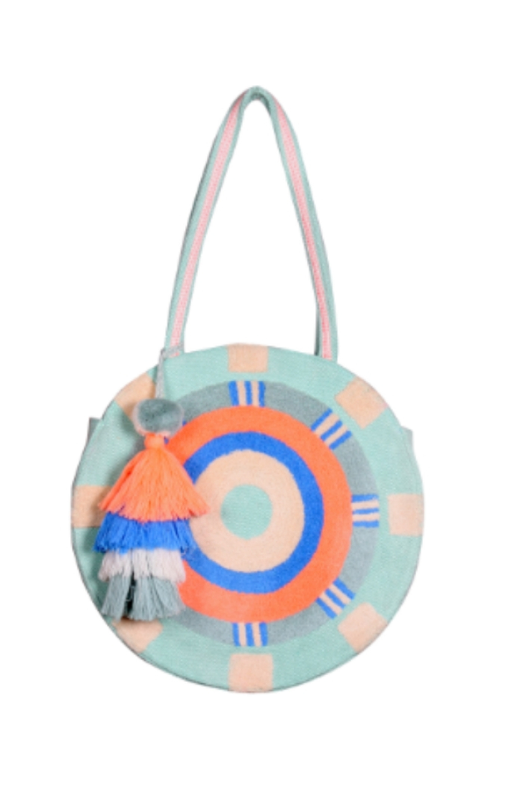 America & Beyond Stonewashed Opal Blue Round Tote - Main Image
