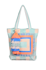 America & Beyond Stonewashed Opal Blue Tote - Product Mini Image