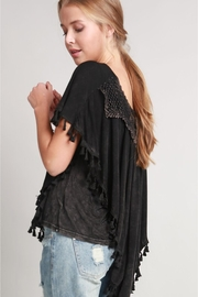 People Outfitter Stonewashed Tassels Top - Product Mini Image