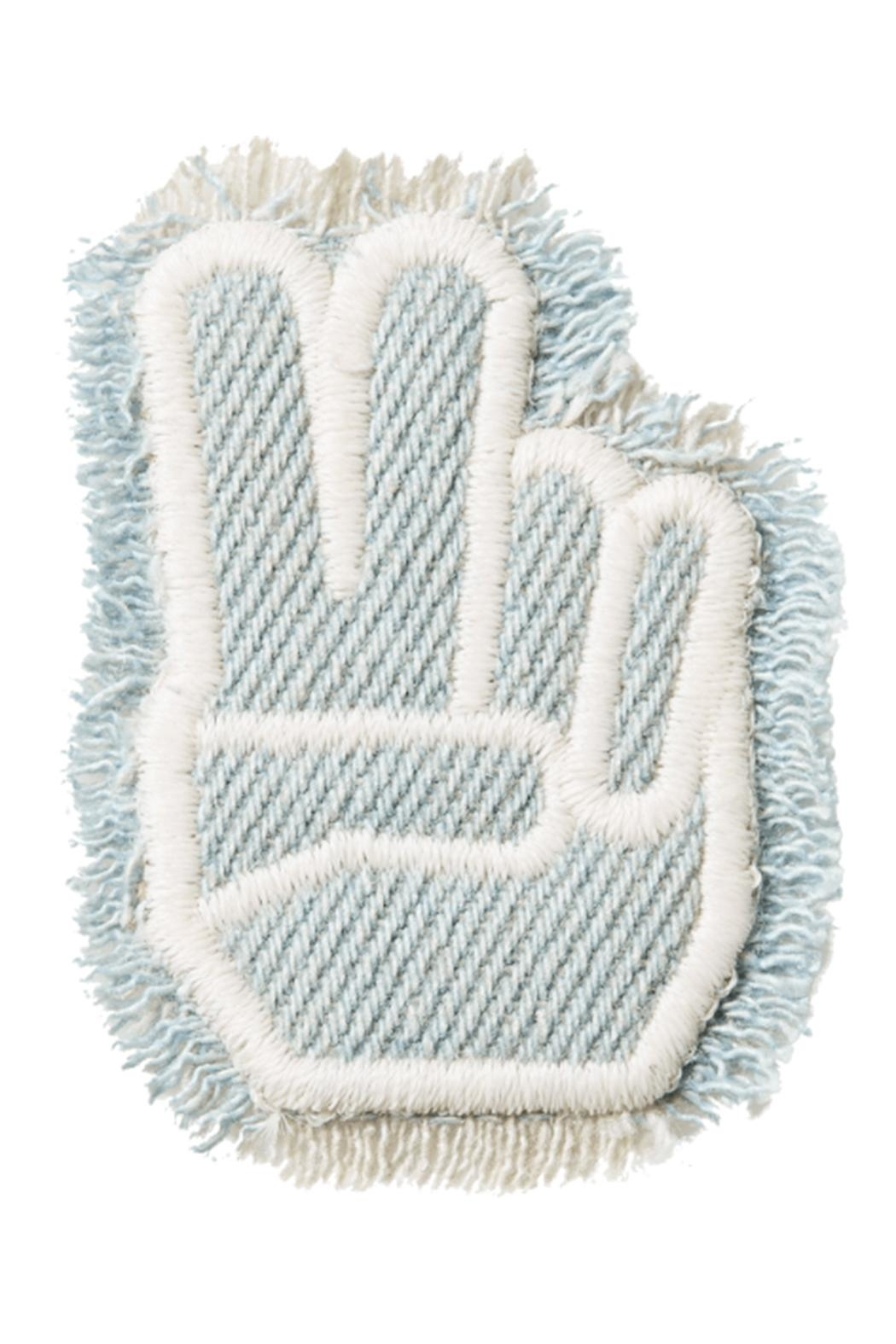 Stoney Clover Lane Peace-Finger Denim Patch - Main Image