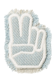 Stoney Clover Lane Peace-Finger Denim Patch - Front cropped