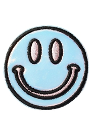 Stoney Clover Lane Puffy Smiley-Face Patch - Front cropped