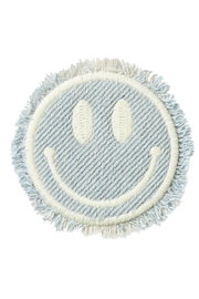Stoney Clover Lane Smiley-Face Denim Patch - Product Mini Image