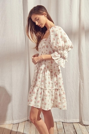 storia Back-Tie Floral Dress - Front full body