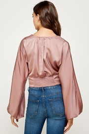 storia Balloon Sleeve Button-Up Top - Other