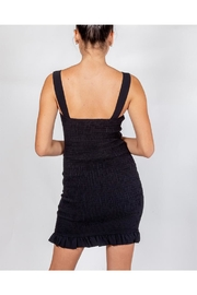 storia Black Smocked Dress - Back cropped