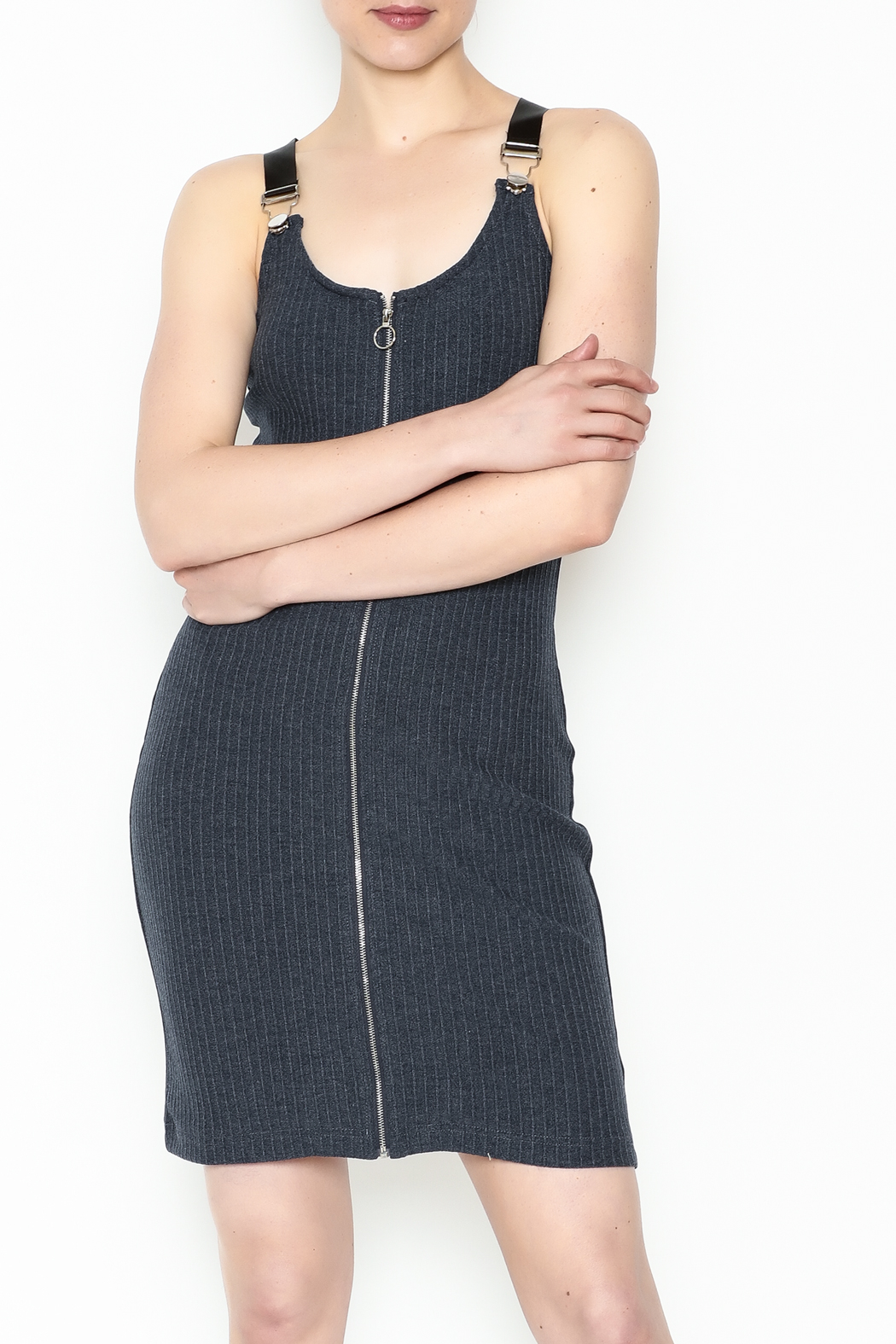 storia Black Strap Dress - Main Image