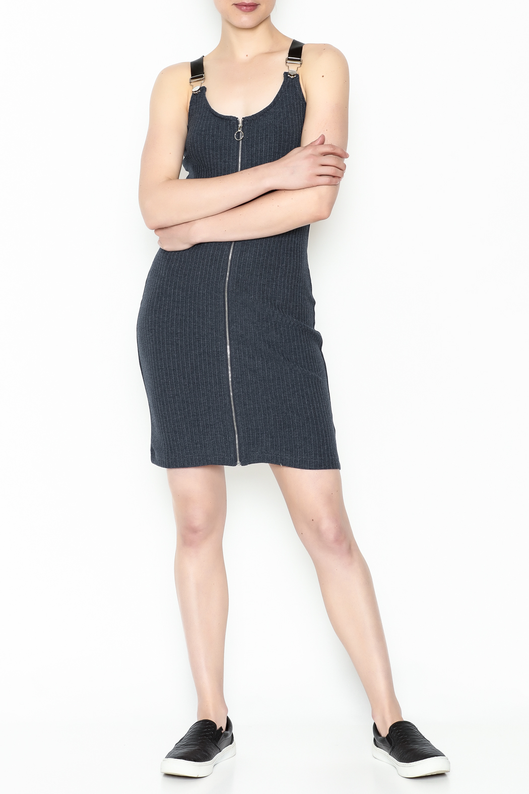 storia Black Strap Dress - Side Cropped Image