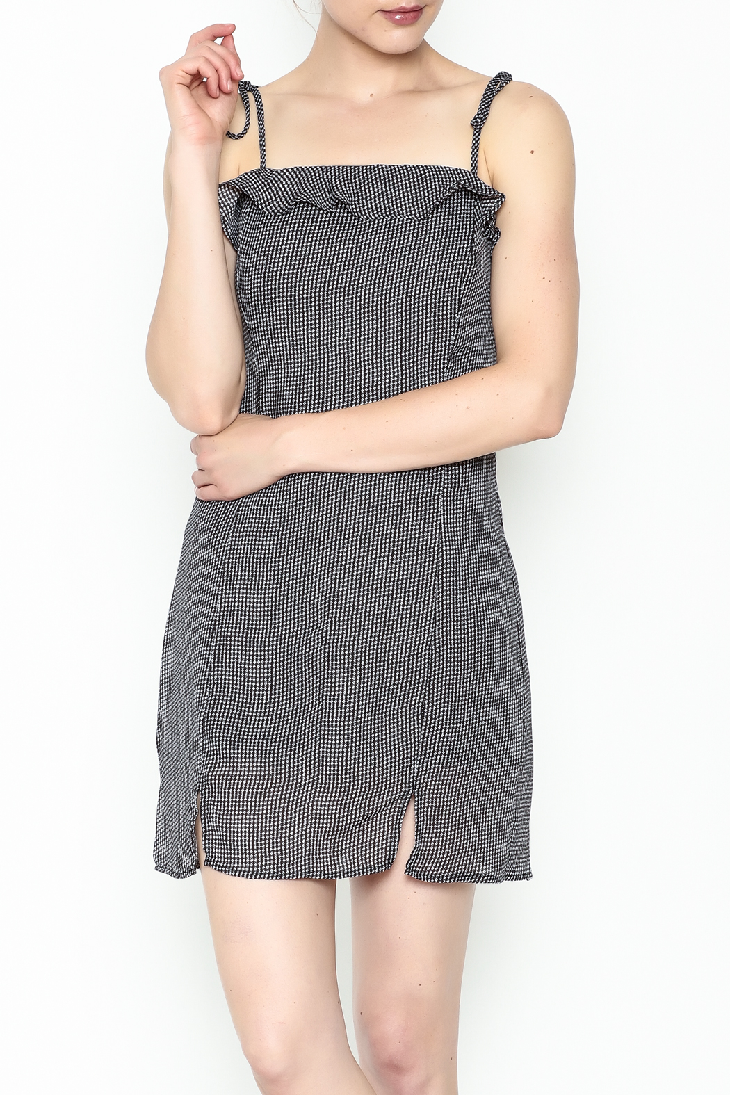 storia Gingham Strappy Dress - Main Image