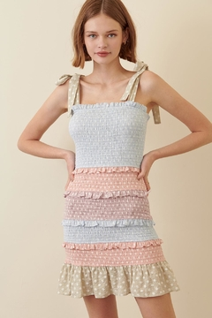 storia Colorful Smocked Dress - Product List Image