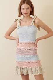 storia Colorful Smocked Dress - Front cropped