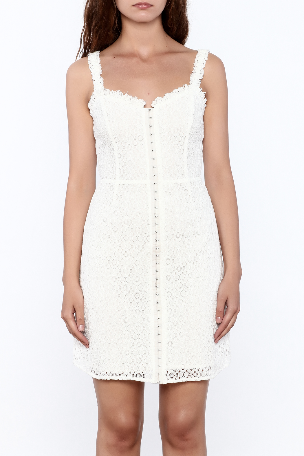 storia Crochet Dress - Front Full Image