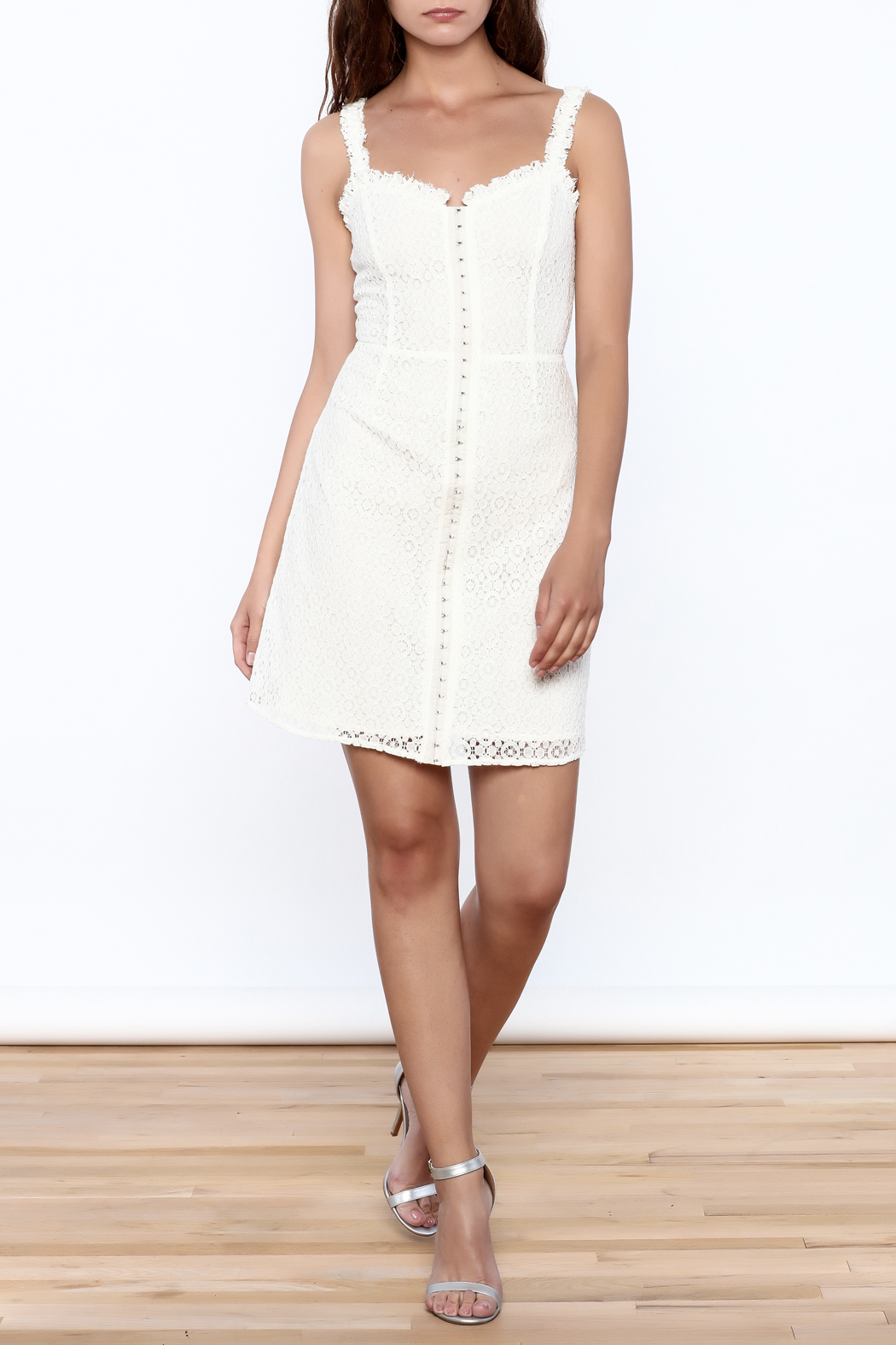 storia Crochet Dress - Side Cropped Image