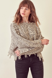 storia Distressed Detail Sweater - Product Mini Image