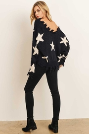 storia Distressed Star Sweater - Front full body
