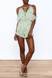 storia Sage Floral Romper - Front full body