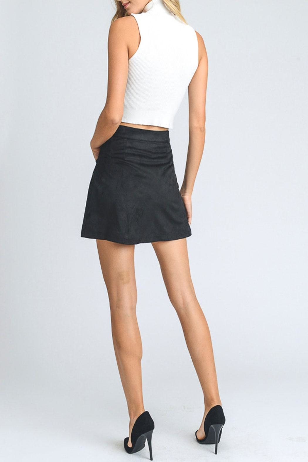 storia Embry Suede Skirt - Front Full Image
