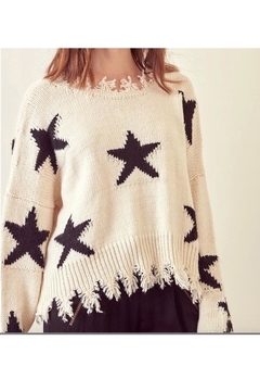 storia Frayed Edged Star Sweater - Alternate List Image