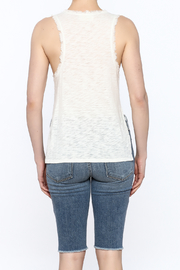storia Frayed White Tank - Back cropped
