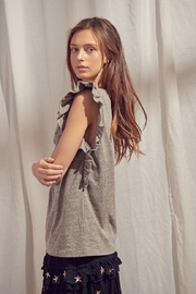 storia Grey Flutter Top - Side cropped
