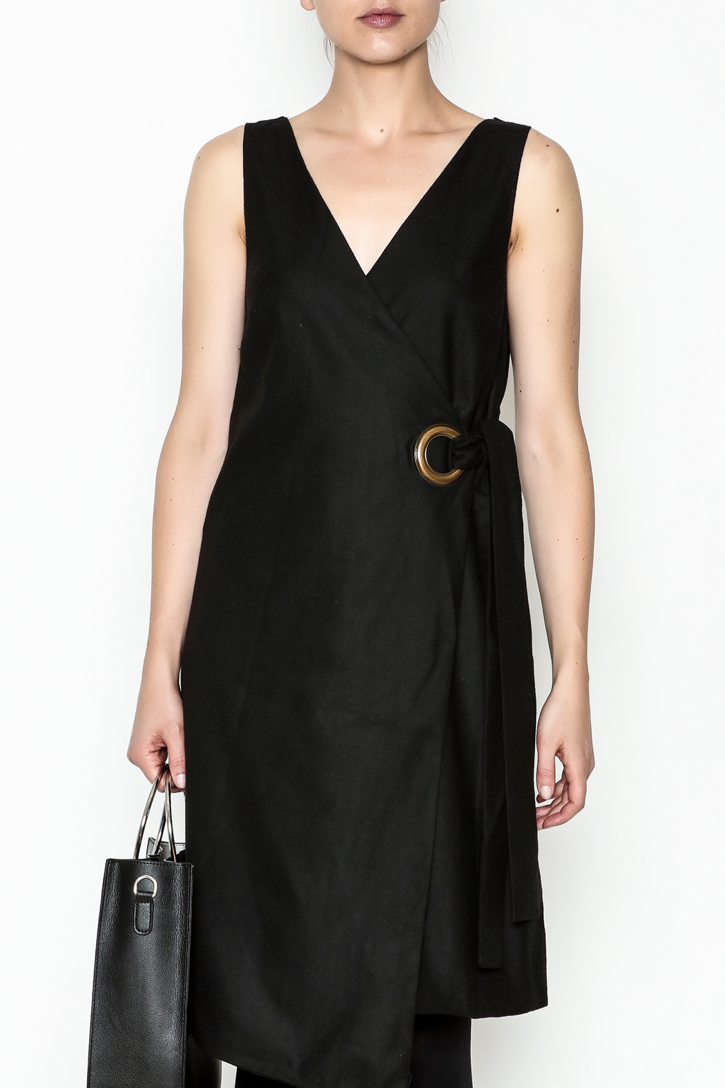 storia Grommet Wrap Dress - Side Cropped Image